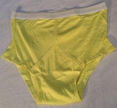Vintage New Jockey Suprel Y-Front Fly Design YELLOW Brief/ Underwear Men's SZ 40 #Jockey #Brief