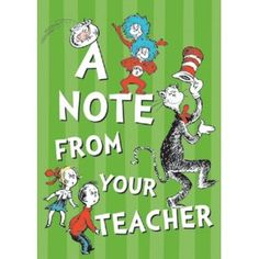 Eureka Dr. Seuss Cat in the Hat Teacher Cards, 36 Mailable Postcards (831903)