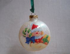 Handmade Glass Glitter Christmas Ornament Everything Is Inside. I can personalize it for you at no extra charge!