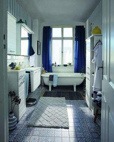 Der flauschige Baumwollteppich in Karo-Optik von Tom Tailor macht dein Badezimmer ab sofort gemütlicher ✨ #onloom #myonloom #onloomteppiche #frischeswohnen #teppich #wohnen #onloomteppich #aktion #newin #wohnzimmer #schlafzimmer #einrichtung #möb Ab Sofort, Tom Tailor, Bathtub, Bathroom, Instagram, Bedroom Interiors, Action, Room Interior Design, Bathing