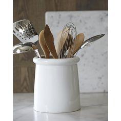 http://www.homekitchennyc.com/category/Utensil-Holder/ Porcelain Utensil Holder | Crate and Barrel