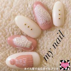 3D Winter nail art