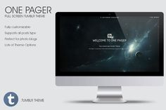 Check out One Pager - Full Screen Tumblr Theme by 8Link on Creative Market