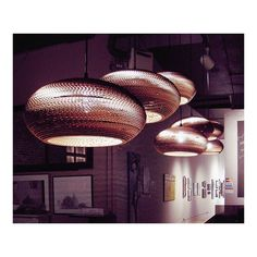 Scraplights // Handmade recycled scraps of cardboard, layered to create a modern take on efficient lighting  #Architecture #Interiors #Interior #interiordesign #home #beautiful #decor