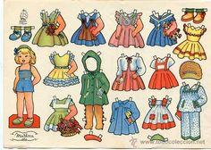 Vintage Paper Dolls, Adult Coloring, Barbie, Baby Dresses, Illustration, Nostalgia, Graphics, Paper Puppets, Baby Dolls
