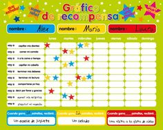 """Recompensa magnética / Star / Responsabilidad Gráfico / Comportamiento durante un máximo de 3 niños. Tablero rígido de 16 """"x 13"""" (40 x 32cm) con gancho para colgar: Amazon.es: Juguetes y juegos"""