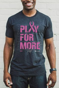 Larry Fitzgerald-Play For More Men's Tee- Breast Cancer Awareness