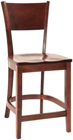 American grown, responsibly harvested solid wood is all our Amish artisans use to handcraft our Coccotti Contemporary Pub Chairs to order just for you.