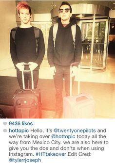 Twenty One Pilots: Hot Topic Take Over, where Tyler gives us his editing tips.