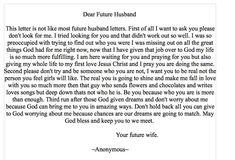 Future husband on Pinterest | Dear Future Husband, Future Husband and ...