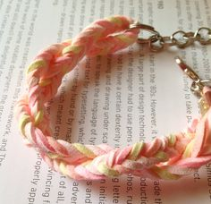 Fishtail Suede Bracelet Lovely Summer Colours by oceaan on Etsy, €14.00