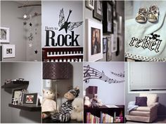 I've always wanted a rockstar room for my little boy. With the colors being gold, royal blue, and red.