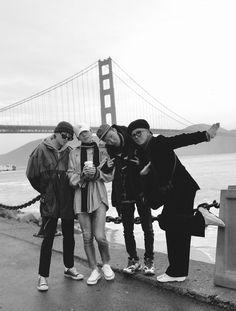 Hope to see u again soon SF👋🏻 Winner Kpop, Kang Seung Yoon, Song Mino, Kpop Aesthetic, Winwin, Yg Entertainment, Kpop Groups, K Idols, Golden Gate Bridge