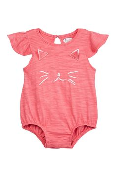 Pink Cat Bubble Bodysuit (Baby Girls) by Frenchie Mini Couture on @HauteLook