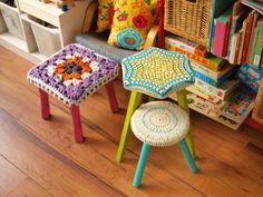 cute crochet stool covers