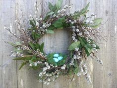 Hey, I found this really awesome Etsy listing at https://www.etsy.com/listing/224533997/spring-pussy-willow-wreath-with-birds