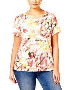 a81e5668 Karen Scott Plus Size Printed T-Shirt, Only at Macy's