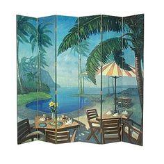 Wayborn Furniture 1421 Panel Palm Beach Screen Room Divider | Lighting