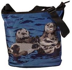Sea Otters Large Bucket Handbag  Square Handbag by SalvadorKitti, $35.95