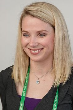 """Why this pin? Because she's a talent. When Marissa Mayer joined Google, she became their first female engineer and 20th employee. When asked what Google will look like in 20 years, she reiterated Google's mission to """"organize the world's information and make it universally accessible and useful."""" Her mantra at Google seems to be understanding people – specifically, their identity and social context. """"We can provide better services if we understand people's context."""""""