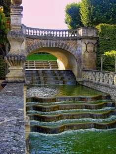 The Water Garden at the Chateau of Villandry, France