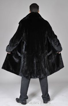 pictures of items the color black | New Mens Mans SAGA sheared black mink fur coat - All sizes available ...
