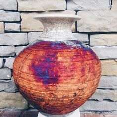 Fire up your Saturday night with radical raku  #locallymade#raku#saturday#weekend#pottery#fire#metallic#fallcolors#saturdaynight#decor#homedecor#art#beautiful