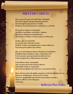 """""""Prece de Cáritas"""" (outra imagem e com link para o vídeo, na voz de Cid Moreira)"""