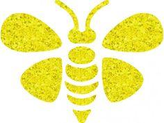 Bee Stencils Free | Bee 01 glitter tattoo stencil