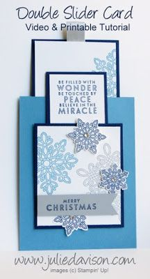 VIDEO & PDF: Double Slider Card Tutorial with Stampin' Up! Flurry of Wishes