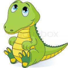 baby alligator cartoon google search malikavision pinterest