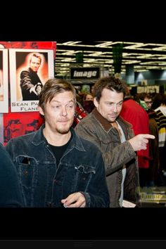 Norman Reedus & Sean Patrick Flanery - there faces...awesome.