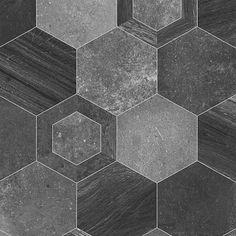 999E Hexa Stone Effect Anti Slip Vinyl Flooring - Vinyl Flooring UK
