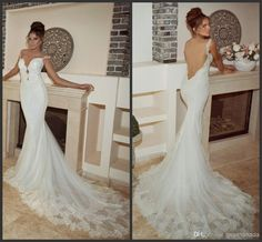 Vintage Backless Mermaid Wedding Dresses