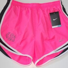 I love the color.... Not sure why you'd get running shorts monogrammed.
