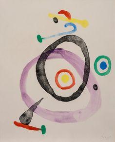 Femme et Oiseau by Joan Miro