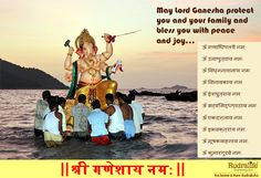 May Lord Ganesha protectyou and your family and bless you with peace and joy... http://www.rudralife.com/