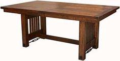 "Amish Outlet Store : 42"" x 66"" Jordan Trestle Table in Oak"