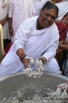 Wherever your work be- in the kitchen, the cowshed or the toilet- let that be your temple...If one puts his(her) heart and soul into an activity, it will be transformed into a tremendous source of inspiration. - AMMA