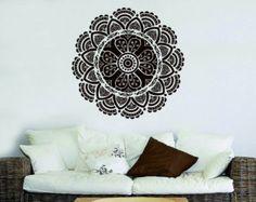 Pared calcomanía Mandala ornamento Lotus flor por FabWallDecals