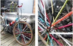 yarnbombing rayons roue