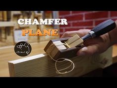 (10) Wooden Chamfer plane for chisel, How to make - YouTube