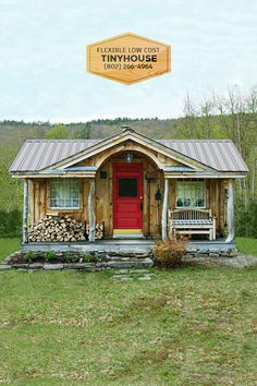 Scratch-N-Dent inventory: In-Stock and Ready to Ship, these Reduced rate storage sheds, tiny homes, run-in sheds and more are a deal! Shed To Tiny House, Run In Shed, Small Tiny House, Tiny House Cabin, Tiny House Living, Tiny House Design, Small House Plans, Small Cottage Homes, Small Homes