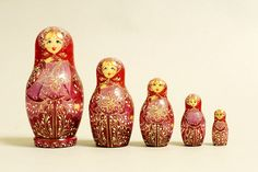 "5 Piece ""Vyatskaya Matryoshka"" Butterfly, number 61855 - 531 Бабочка"