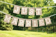 Brides: Just Married Wedding Decor Banner . Just Married banner by Brides Wedding Collection Wedding Wishes, Wedding Signs, Our Wedding, Dream Wedding, Wedding Reception, Wedding Stuff, Budget Wedding, Wedding Season, Casual Wedding