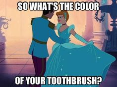 I think every mormon understands... My sister and I were at our homeschool spring fling and one of the guys kept asking us all what the color of our toothbrush was. He was Mormon. I am not. After I saw this pin and its original caption, I totally get it! :)