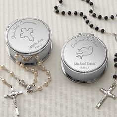 Holy Day Engraved Rosary Case