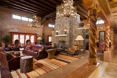 Visions Design Group out of Santa Fe Stone Rock #Fireplace