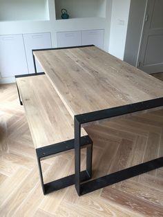 Tafel op maat gemaakt door Maek meubels