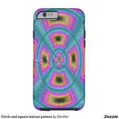 Circle and square texture pattern tough iPhone 6 case